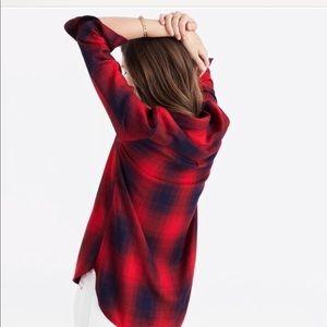 Brand New Madewell Ex-Boyfriend Plaid Shirt